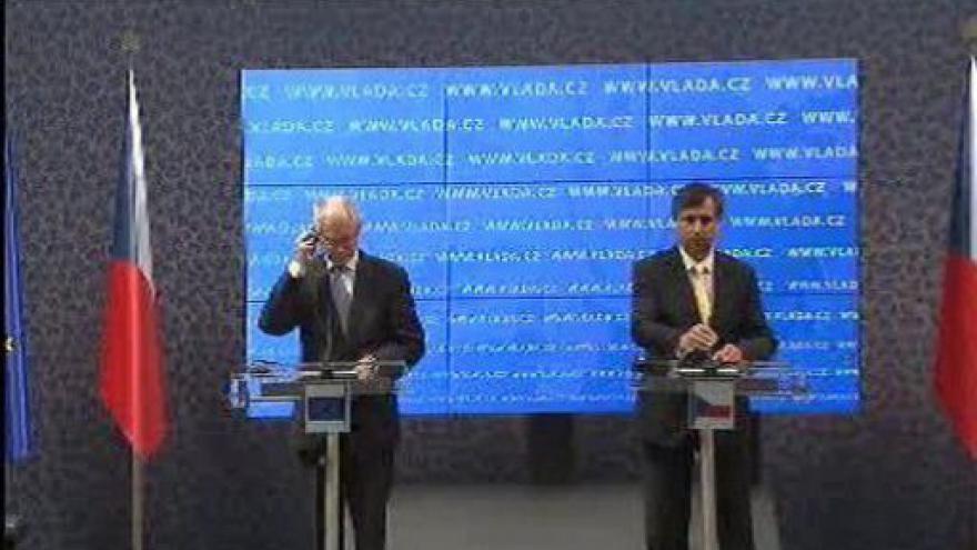 Video TK po jednání prezidenta EU Van Rompuye a premiéra ČR Fischera