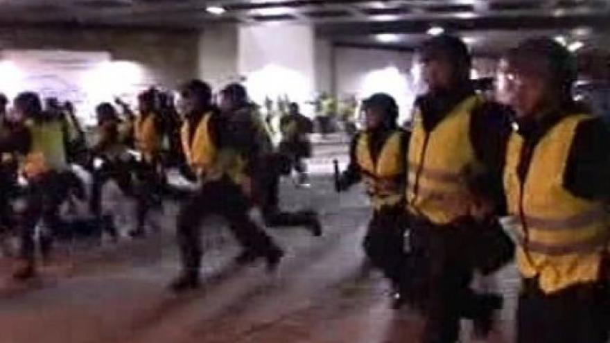 Video Zatýkání při demonstraci v Kodani