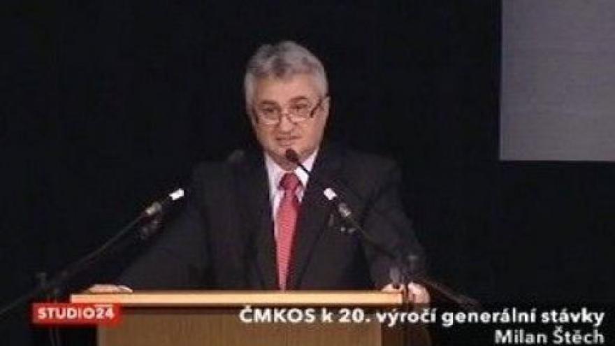Video Odbory si připomněly 20. výročí generální stávky