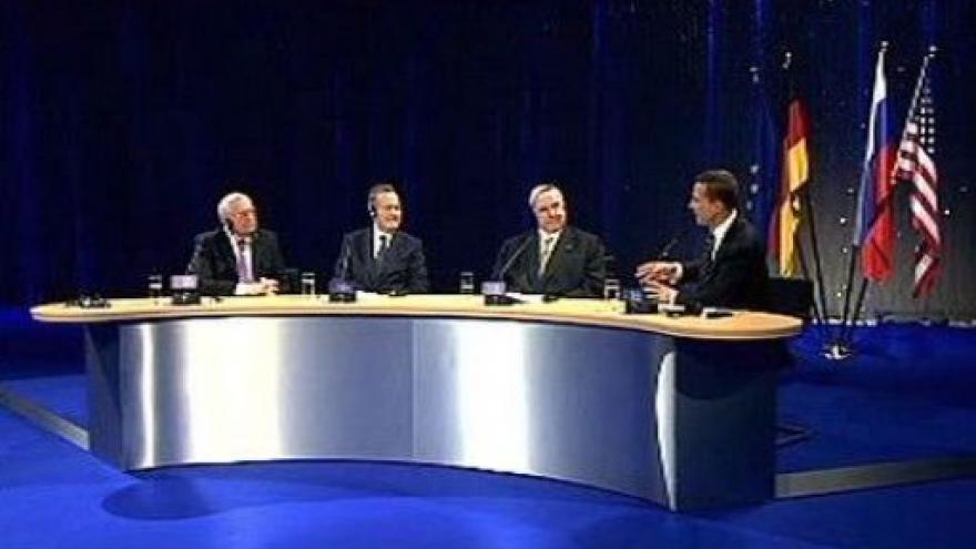 Video Setkání Kohla, Bushe a Gorbačova