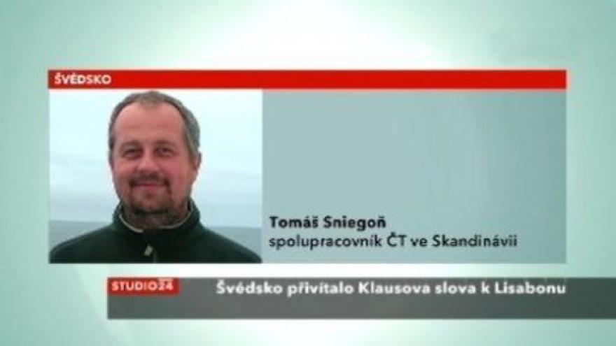 Video Tomáš Sniegoň ke švédské reakci na Klausův postoj