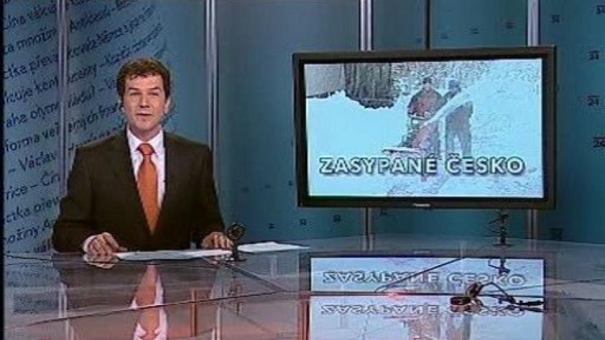 Video Události, komentáře o sněhové kalamitě