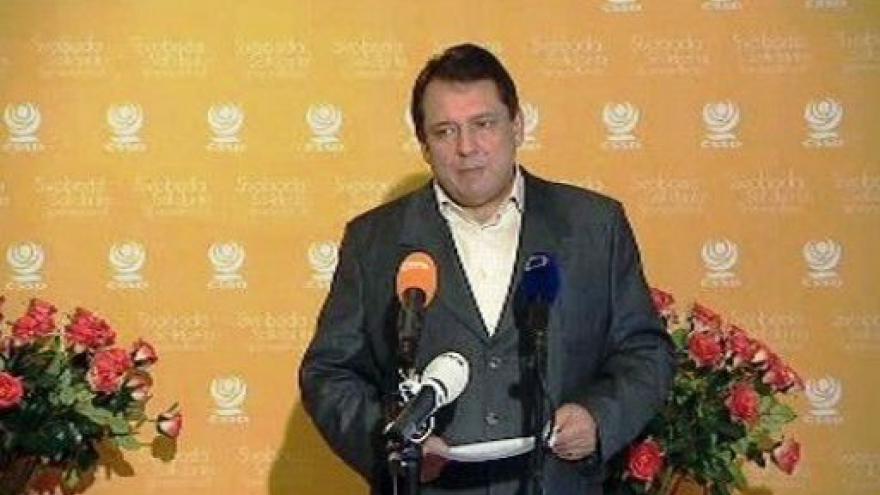 Video Tisková konference Jiřího Paroubka