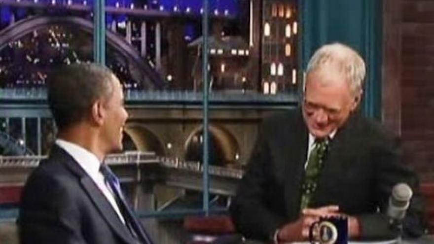 Video Obama u Davida Lettermana