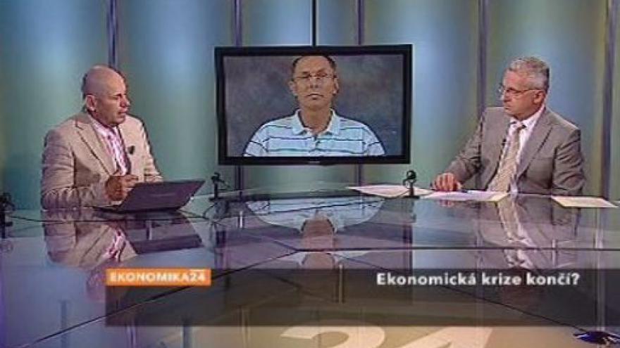 Video Jan Švejnar a Michal Mejstřík v Ekonomice ČT24