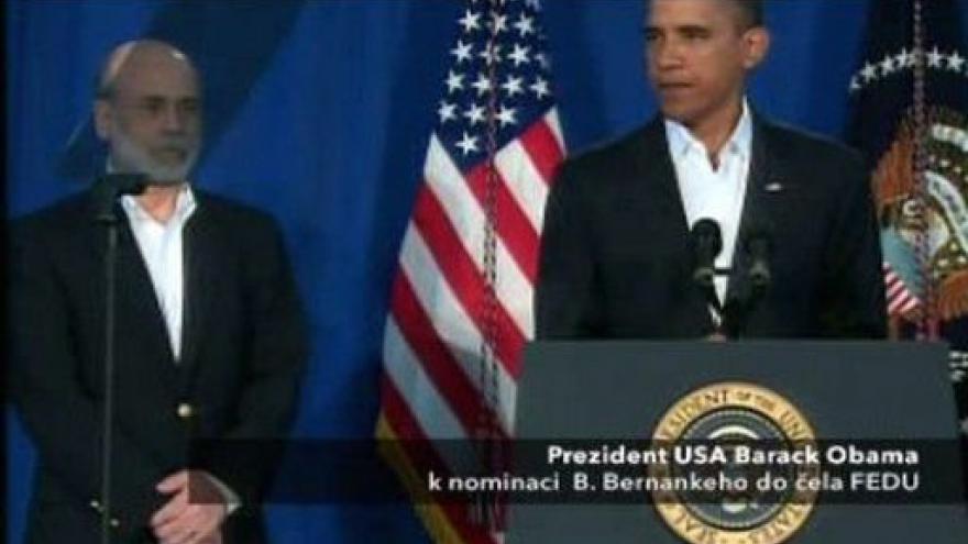 Video Projev Baracka Obamy a Bena Bernankeho