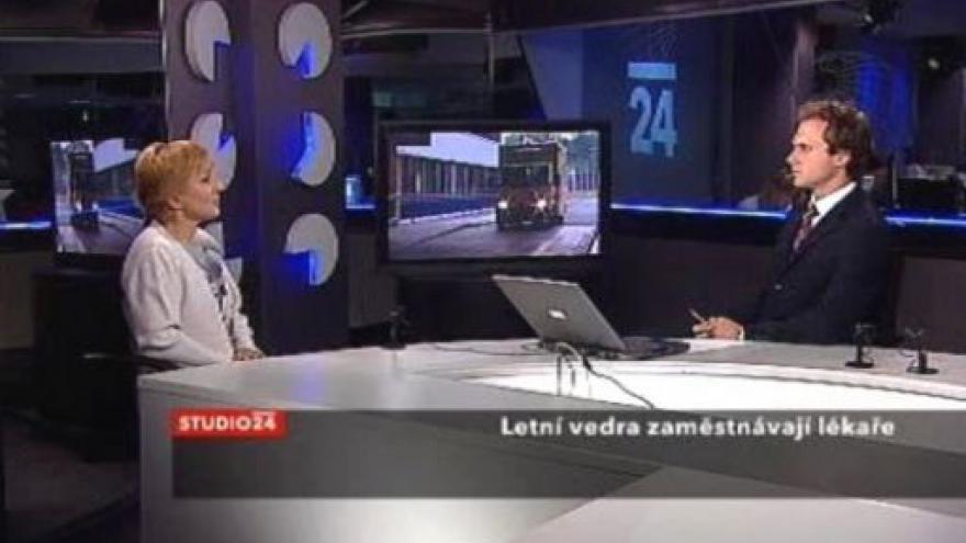 Video Kardioložka Eva Mandysová ve Studiu ČT24