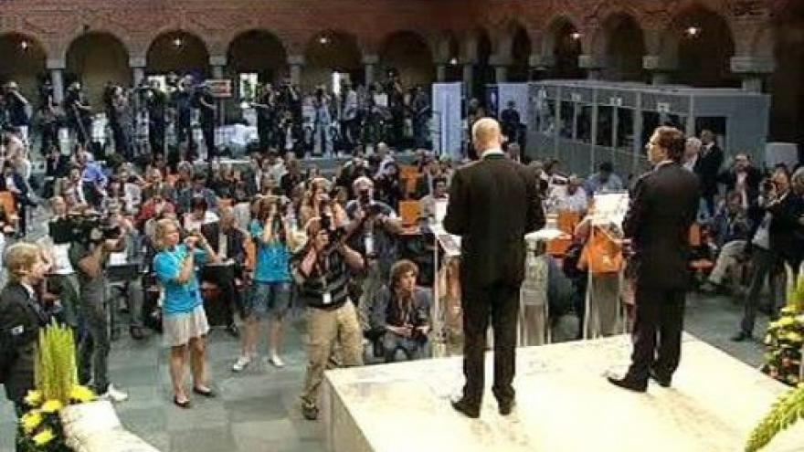 Video Brífink Fredrika Reinfeldta a José Manuela Barrosa