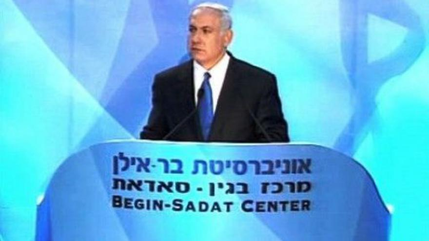 Video Studio ČT24 o projevu Benjamina Netanjahua