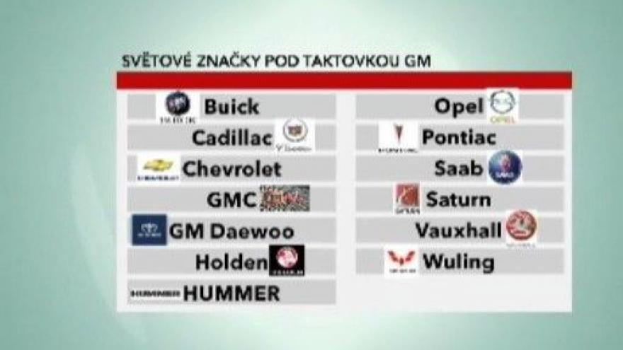 Video Automobilka General Motors zbankrotovala