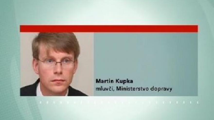 Video Vyjádření tiskového mluvčího ministerstva dopravy Martina Kupky