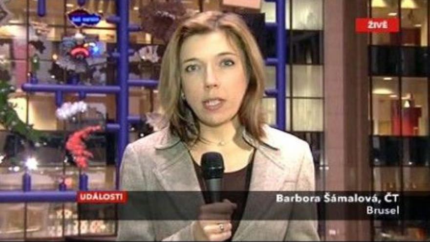Video Vstup Barbory Šámalové z Bruselu