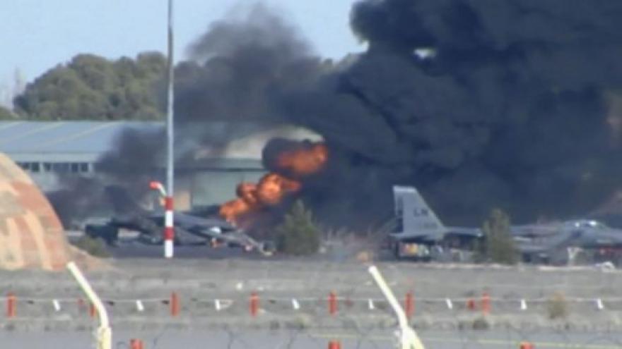 Video Ve Španělsku havarovala stíhačka NATO, 10 mrtvých