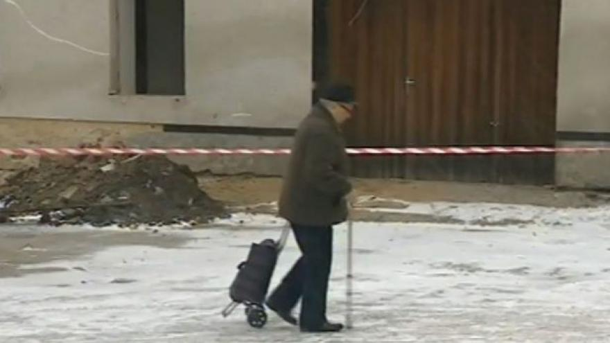 Video O bourání radnice hovoří starosta Morkovic-Slížan Pavel Horák (nez.)