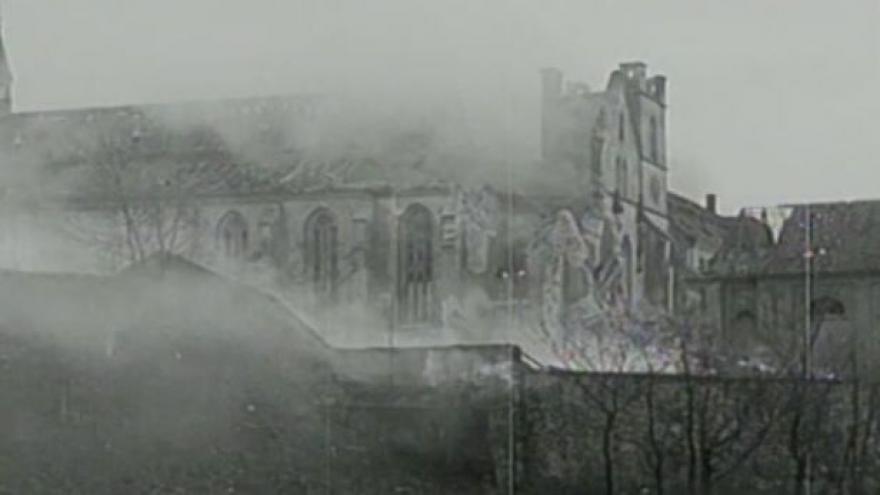 Video Historické záběry: Nálet na Prahu v únoru 1945