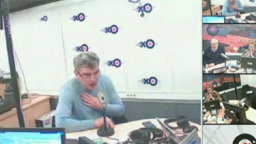 Video Boris Němcov v rádiu jen pár hodin před smrtí