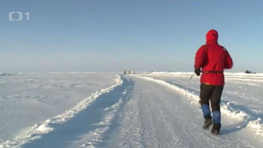 Video Petr Vabroušek před tréninkem v mrazáku