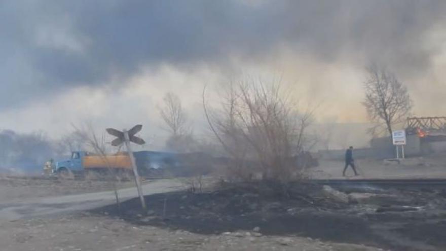 Video Na Sibiři řádí ničivý požár (zdroj: YouTube)