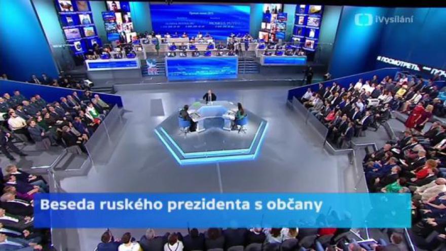 Video Ruský prezident Putin odpovídal na dotazy občanů