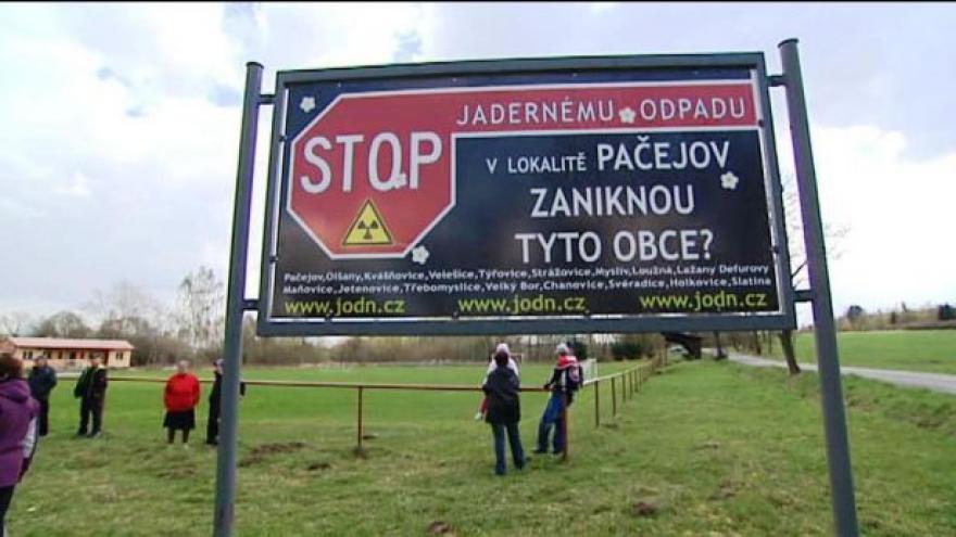 Video Lidé v Česku protestovali proti jadernému úložišti