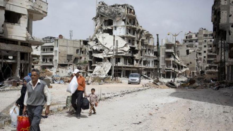 Video Život ve zdevastovaném Homsu