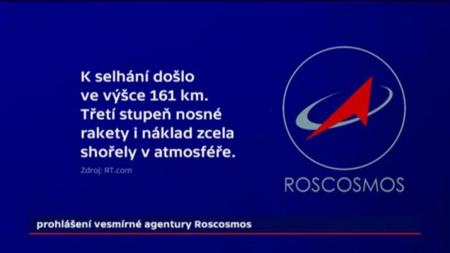 Video Události: Nehoda ruské rakety
