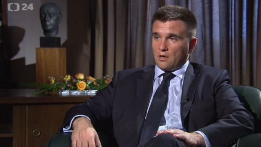 Video Chceme podporu od ČR jako země s evropskými hodnotami, říká Klimkin