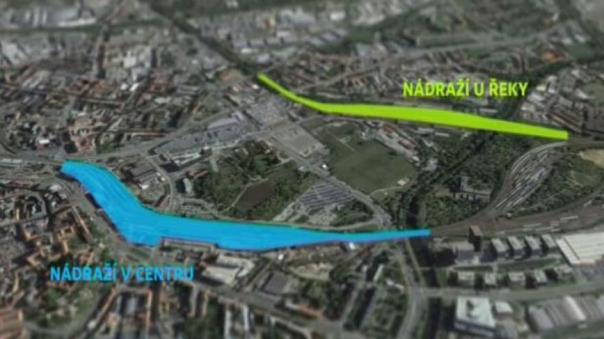 Video Studie proveditelnosti posoudí varianty brněnského nádraží