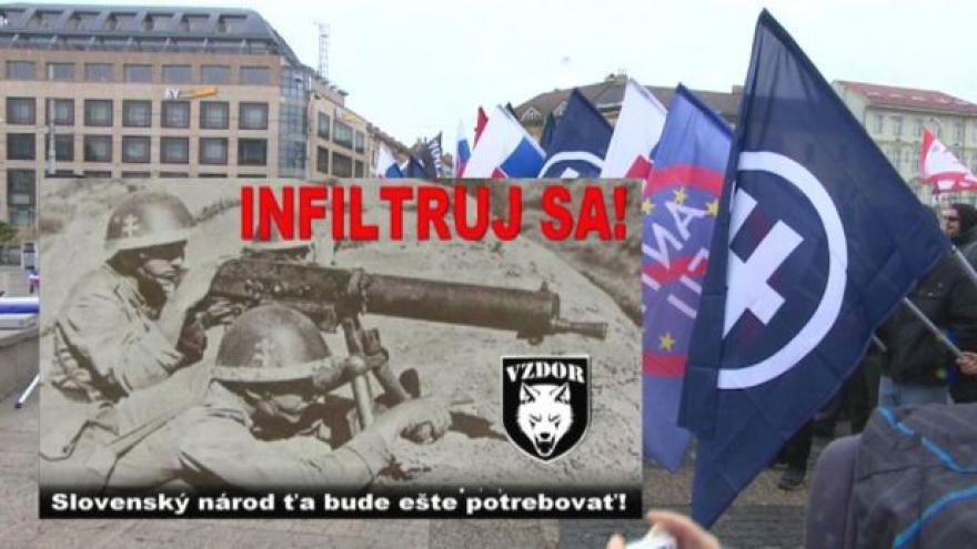 Video Extremisté chtějí infiltrovat slovenskou policii