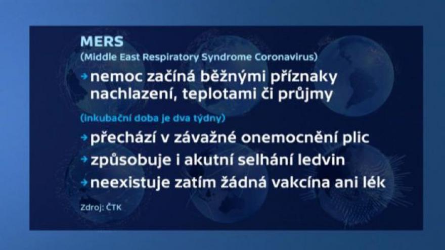 Video Lékař Ladislav Machala: Už loni se v Česku objevila dvě podezření na MERS