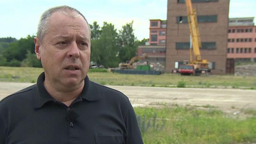 Video Petr Kříž o rozebírání těžební věže ve Zbýšově