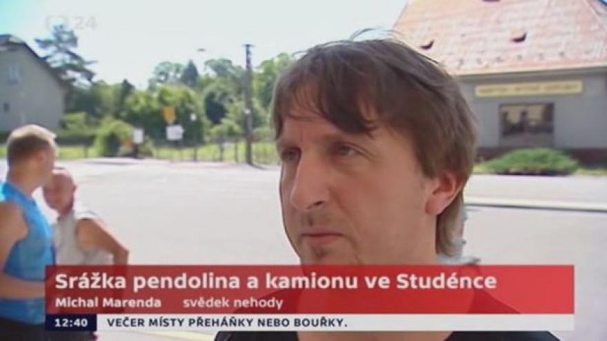 Video Cestující Michal Merenda: Hasiči a zdravotníci přijeli okamžitě