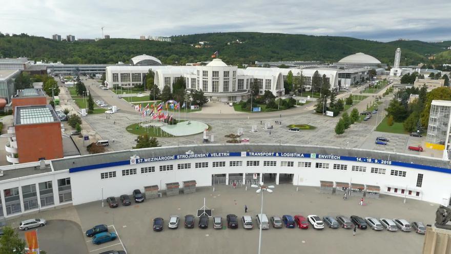 Video Veletrhy Brno z ptačího pohledu