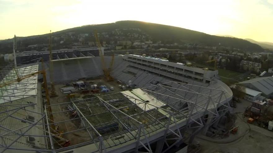 Video Bez komentáře: Letecké záběry stadionu ve Vídni