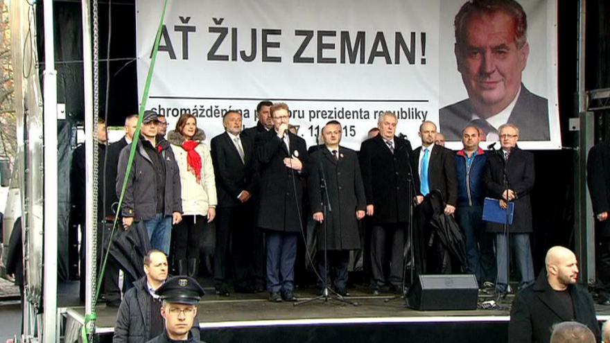 Video Projev prezidenta Zemana na Albertově