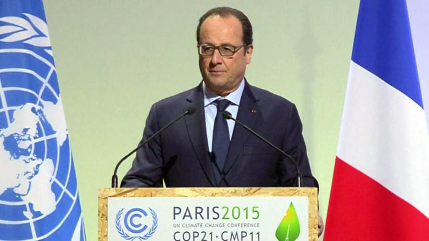 Video Úvodní projev Francoise Hollanda na klimatickém summitu
