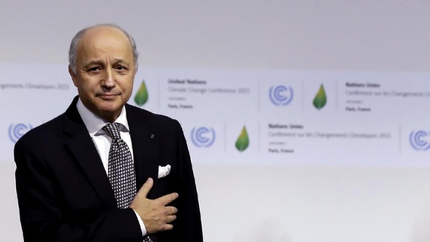 Video Fabius představil návrh nové klimatické dohody