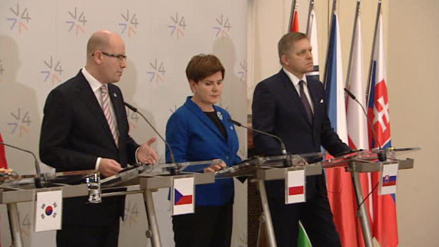 Video Praha hostí mimořádný summit visegrádské skupiny