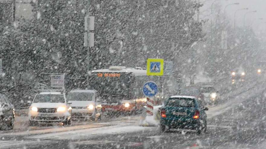 Video iReportér o sněžení