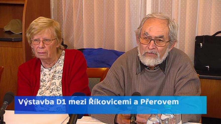 Video Tisková konference: Prodej pozemků a nemovitostí na výstavbu dálnice D1 u Přerova