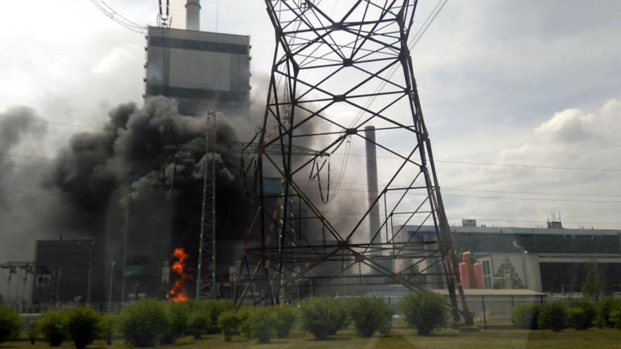 Video Požár v mělnické elektrárně