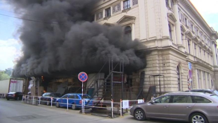 Video Požár Mahenova divadla