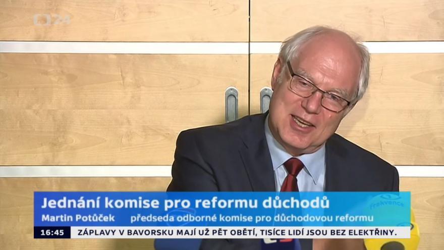 Video Potůček k jednání komise pro reformu důchodů