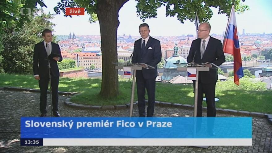 Video Slovenský premiér Fico v Praze