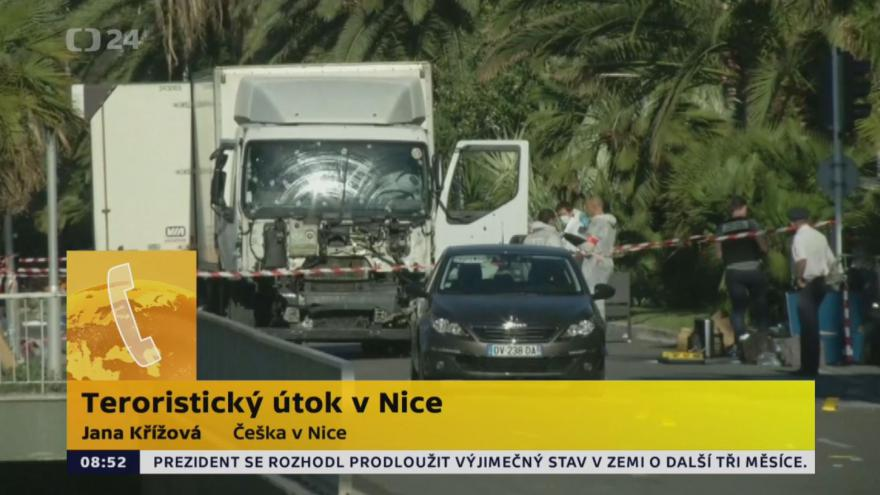 Video Češky k útoku v Nice