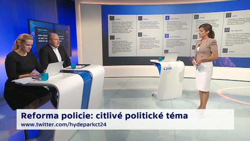 "Video 90' ČT24 - Zpráva oreorganizaci policie"","