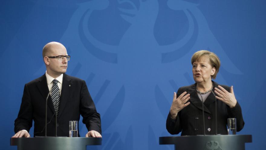 Video Angela Merkelová míří do Česka