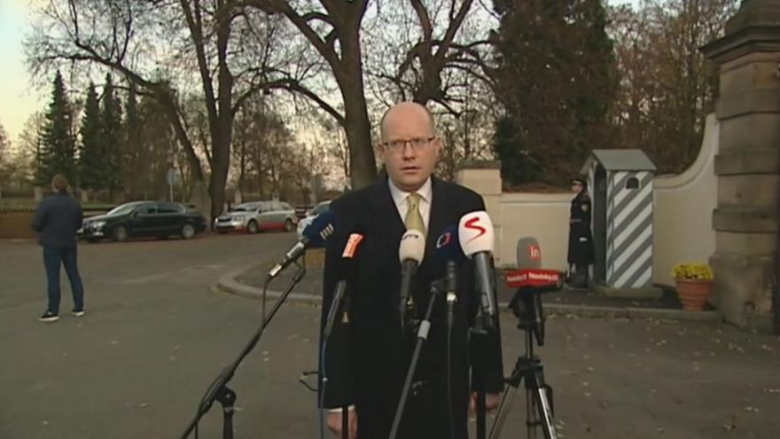 Video Premiér Sobotka po přijetí u prezidenta v Lánech