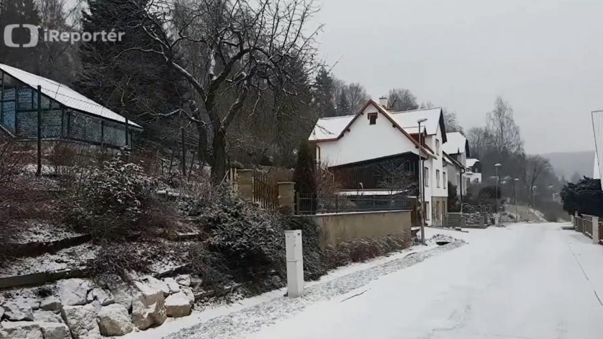 Video Ranní sněžení v Krušných horách
