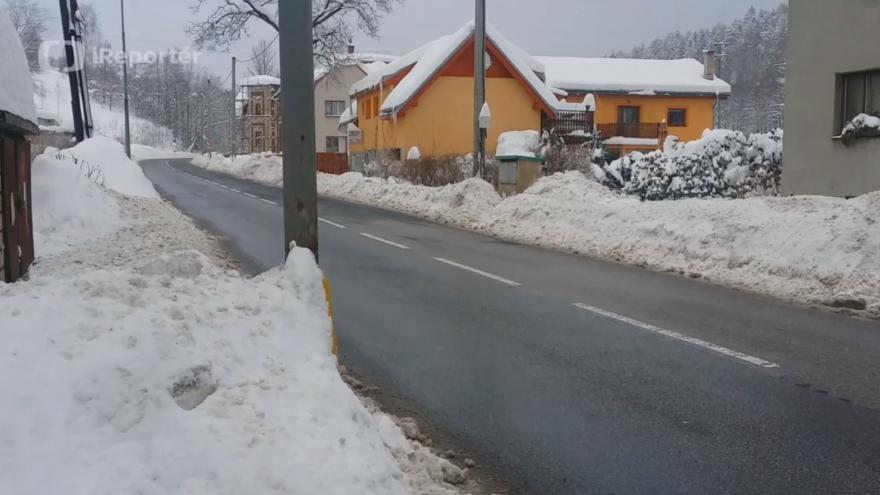 Video iReportér: Přívaly sněhu v Jablonci nad Nisou